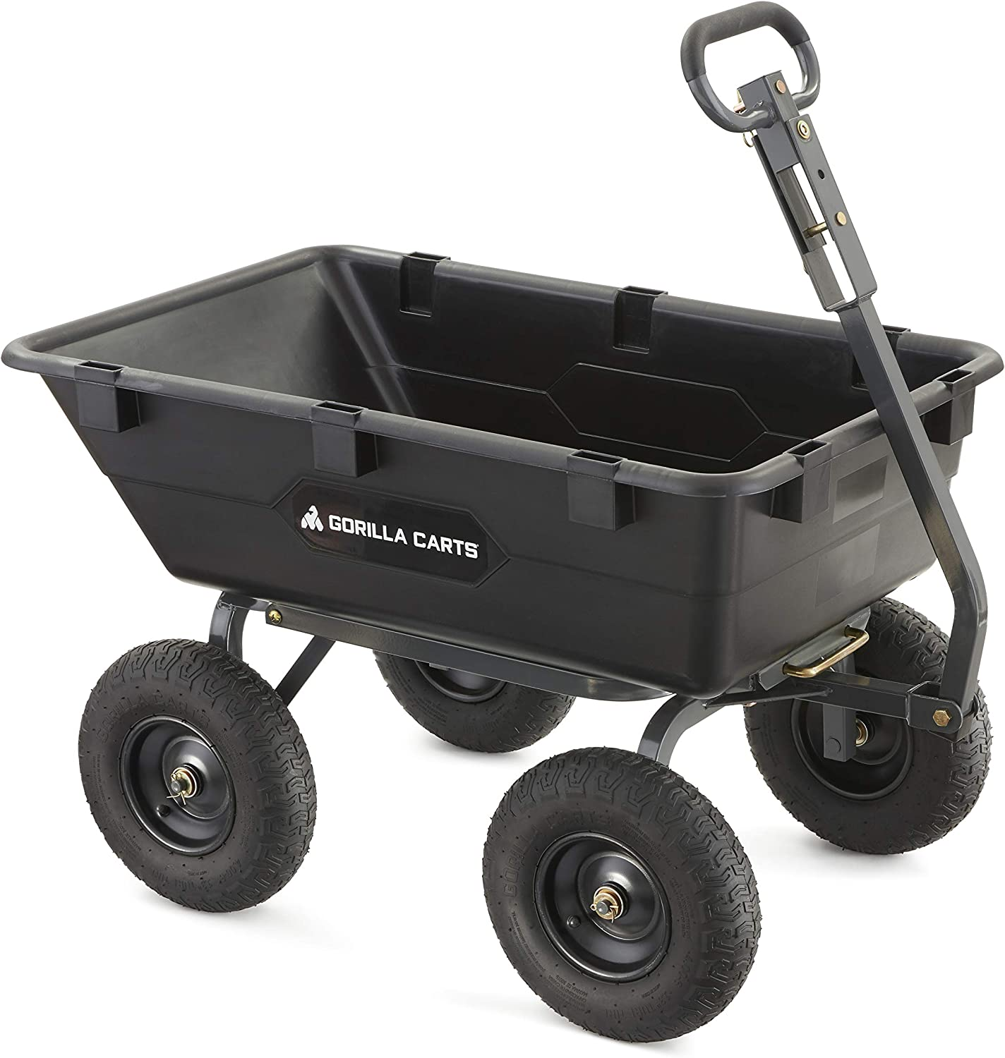 Best dump cart for lawn tractor: Gorilla Carts GOR6PS