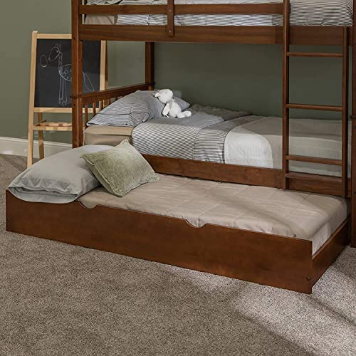 Walker Edison Solid Wood Twin Trundle Frame