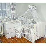 Baby's Comfort 16tlg BABY BETTWÄSCHE BETTSET MIT STICKEREI (12 FARBEN)