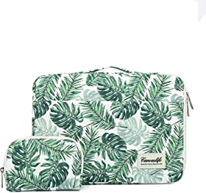 Canvaslife 15 inch Banana Leaf 360° Cushion Protective Waterproof Laptop Case Bag Sleeve with Handle for 15 inch-15.6 inch Laptop