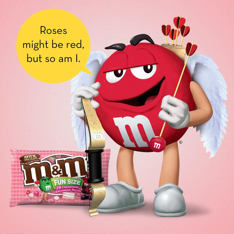 M&Ms Valentines - Bolsa de chocolate de leche, tamaño ...