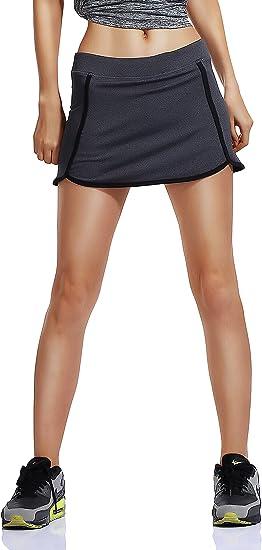 Honoursport Falda de Tenis Skort Golf Mujer Negra Pantalón Ropa ...