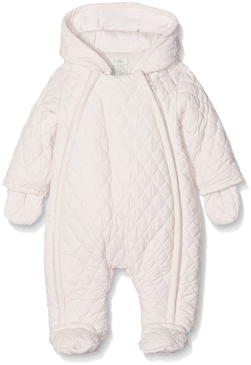 Mamas & Papas Baby Girls' Quilted Pramsuit Pink Snowsuit Mamas and Papas