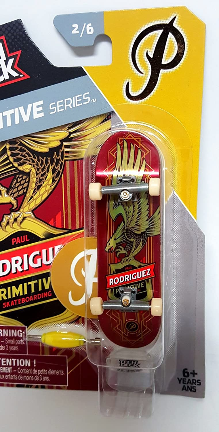 Amazon.com: NEW Tech Deck Primitive Series 2/6 Paul Rodriguez Finger Skateboard Board - RED: Toys & Games