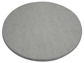 Werzalit tischplatte rund  Amazon.de: Werzalit Tischplatte Marmor bianco rund 80 cm
