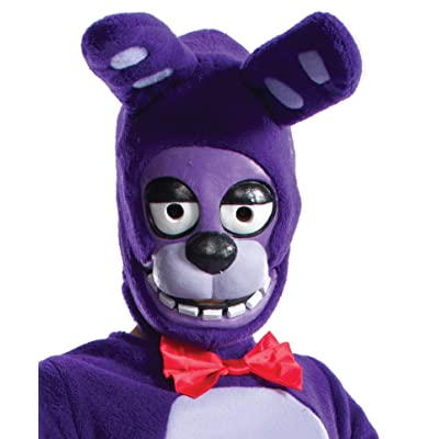Rubie's Costume Boys Five Nights at Freddy's Bonnie The Rabbit 3/4 Mask Costume, One Size: Toys & Games