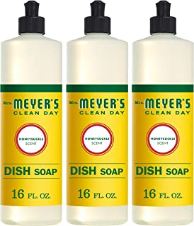 product image for Mrs. Meyer's Clean Day Liquid Dish Soap, Cruelty Free Formula, Honeysuckle Scent, 16 oz- Pack of 3