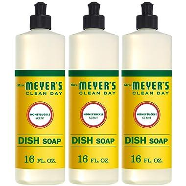 Mrs. Meyer's Clean Day Liquid Dish Soap, Honeysuckle,OO, 16 Ounce Bottle