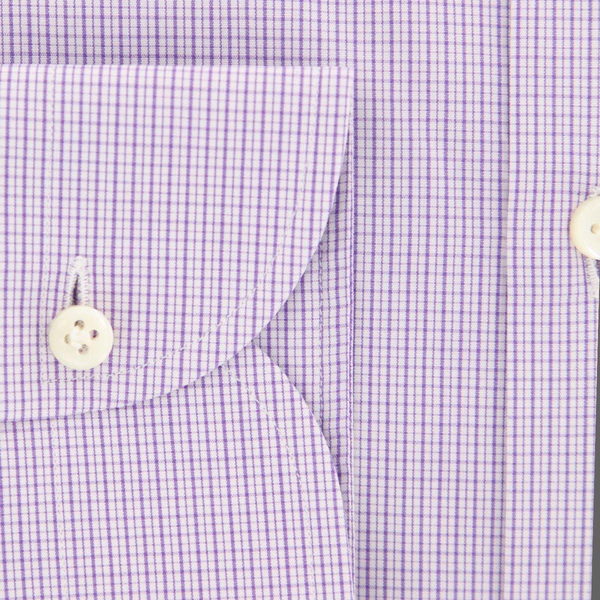Luigi Borrelli Stripes Button Down Cutaway Collar Cotton Slim Fit Dress Shirt
