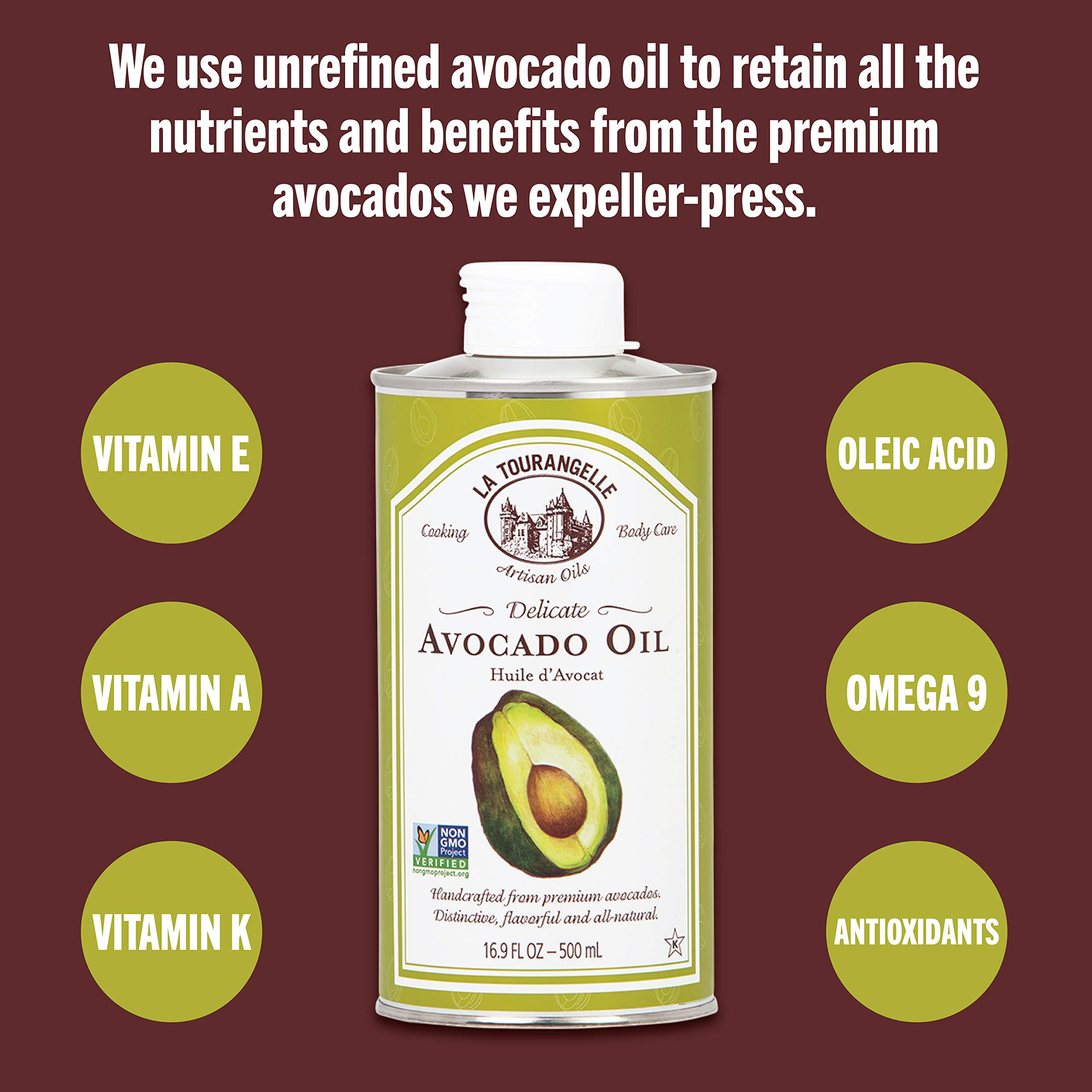 La Tourangelle Avocado Oil 25.4 Fl. Oz., All-Natural, Artisanal, Great for Salads, Fruit, Fish or Vegetables, Great Buttery Flavor by La Tourangelle (Image #6)