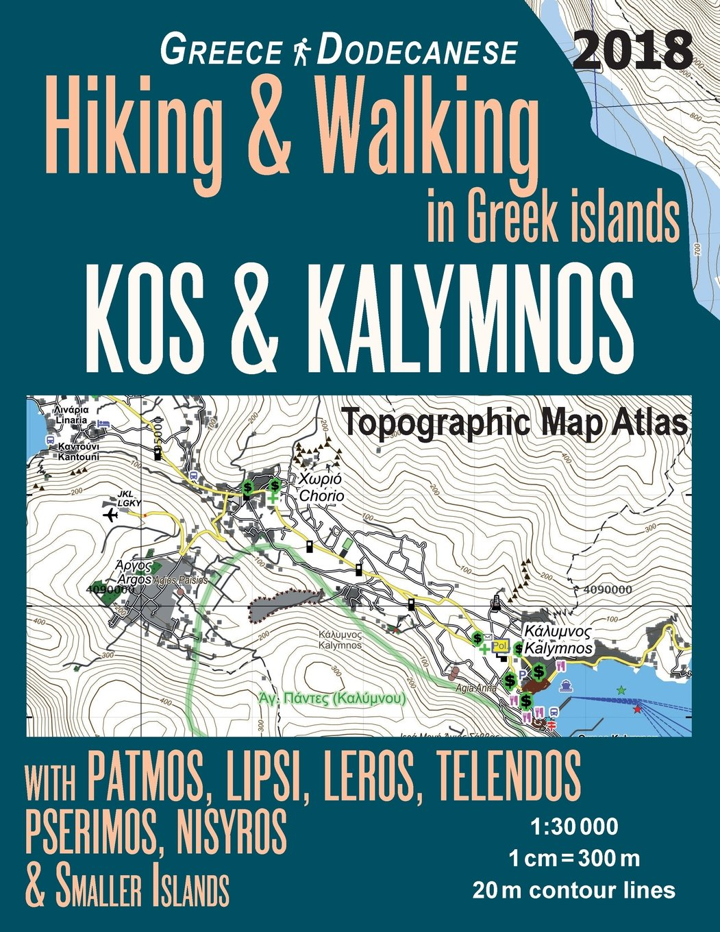 Buy Kos Kalymnos Topographic Map Atlas 1 30000 Greece Dodecanese