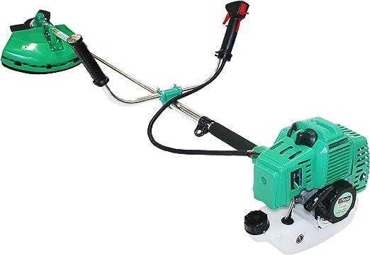 Desbrozadora 43cc gasoline Brush Cutter, Cabezal hilo nylon y cuchilla 3 dientes incluidos: Amazon.es: Jardín