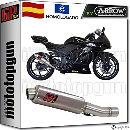 SILENCIOSO GP GUN by ARROW ACERO COMPATIBLE CON KAWASAKI ...