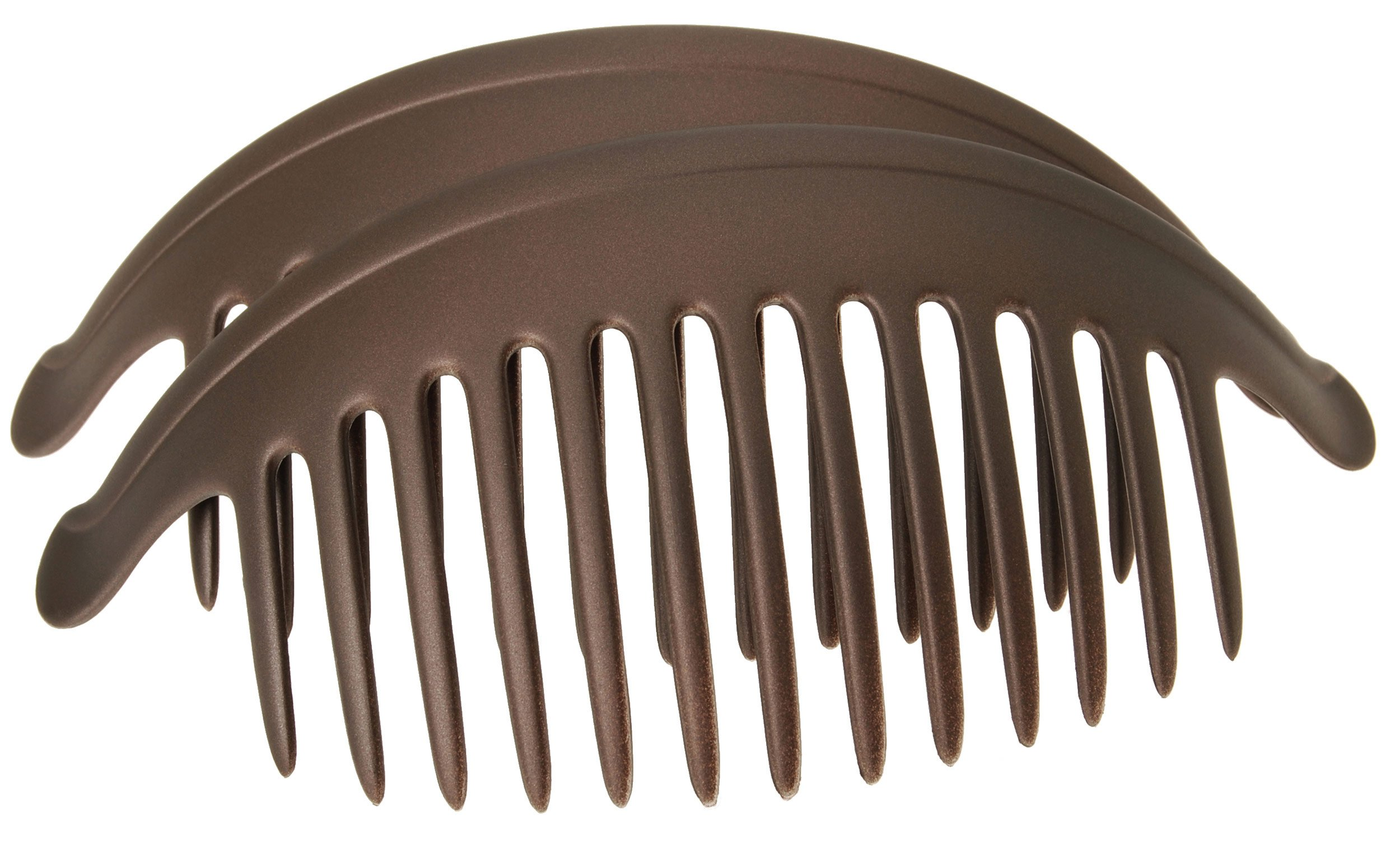 France Luxe Belle Larger Interlocking Comb, Matte Chocolate, Set of 2 - An Excellent Styling Solution For Long/Thick or Curly Hair by France Luxe