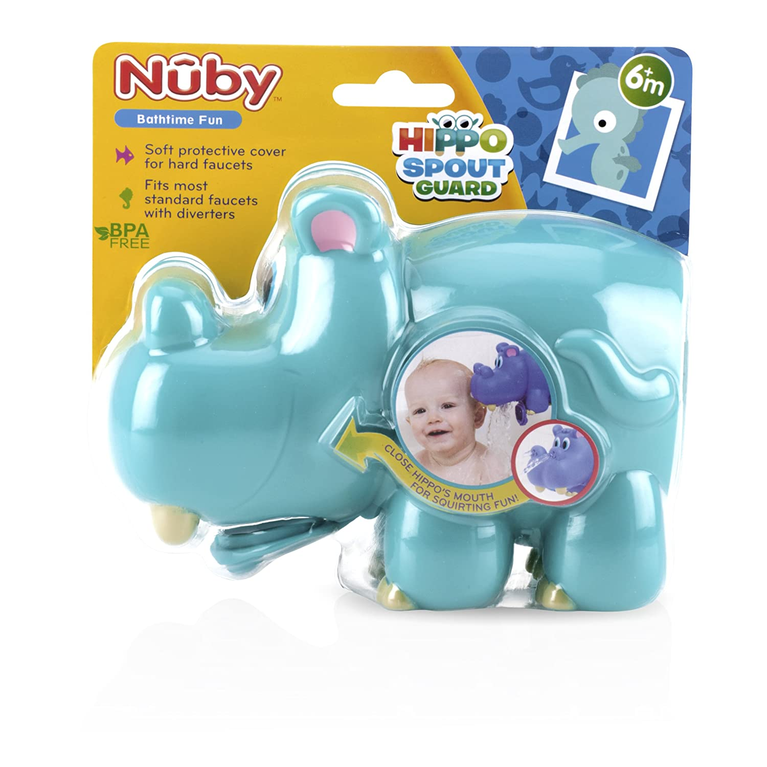 cover for bathtub faucet.  Amazon com Nuby Hippo Spout Guard Blue Baby