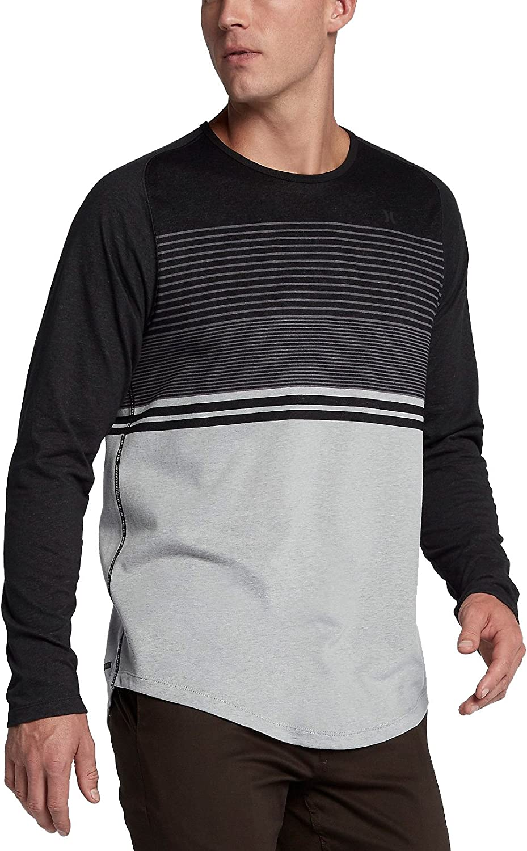 Hurley Mens Dri-Fit Lagos Coves Crew Long Sleeve Shirt