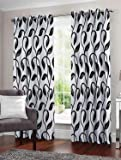 Story at Home Window Curtain, Black, 118cm X 152cm, Wnr4021, Set Of 2