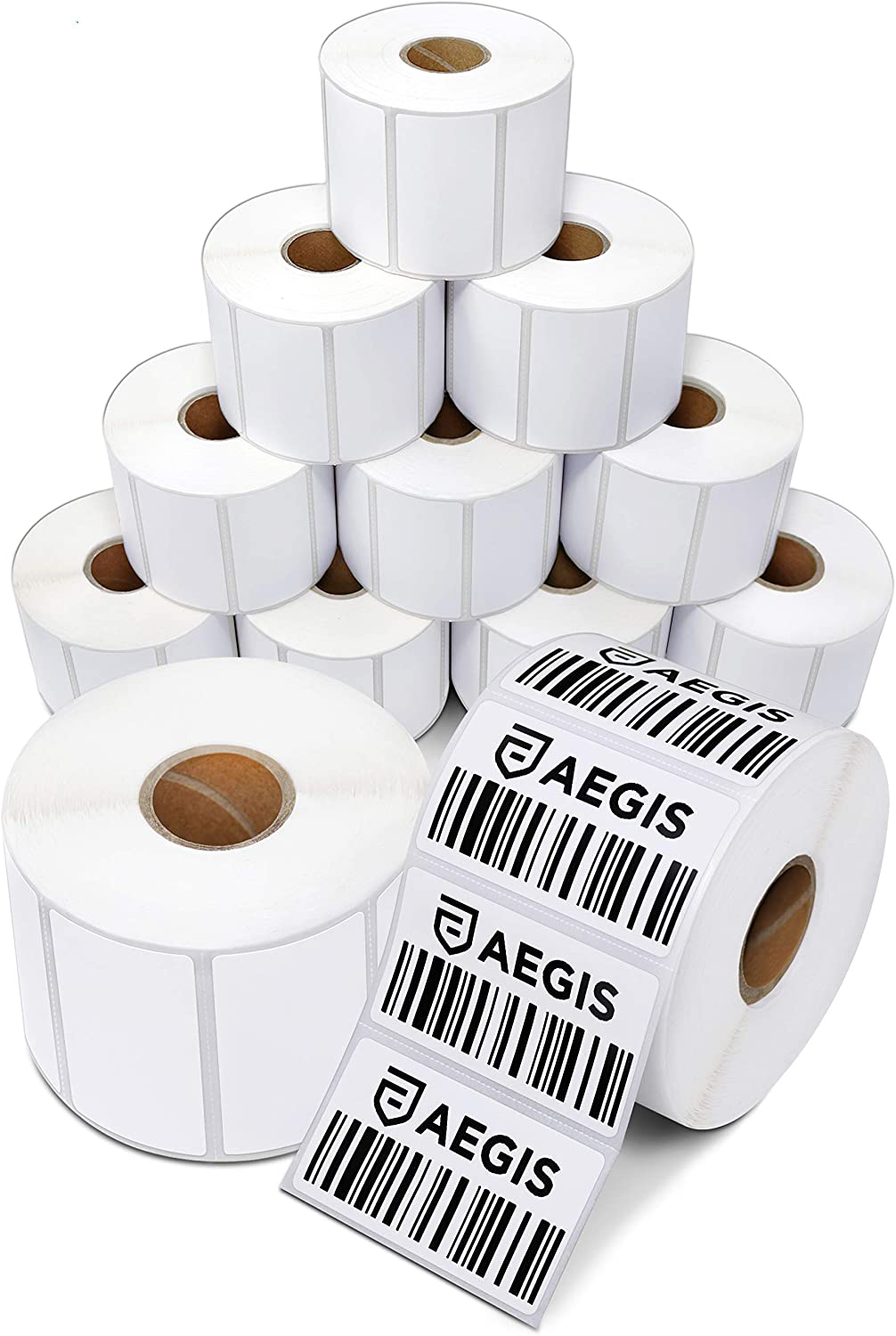 24 Rolls Perforated 2.25x1.25 Thermal Shipping Labels for Zebra LP2844 1000//roll