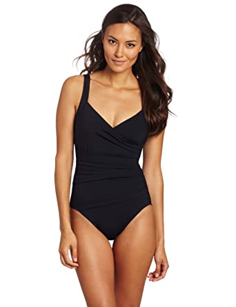 1fa0852aa2 Calvin Klein Women's Shirred Panel One-Piece Swimsuit at Amazon Women's  Clothing store: Fashion One Piece Swimsuits