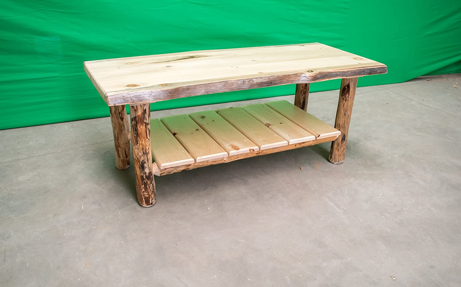 - Amazon.com: Midwest Log Furniture - Rustic Log Coffee Table