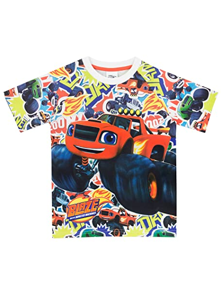 493d3c9d2 Blaze and the Monster Machines Camiseta para Niño - Blaze y Los Monster  Machines  Amazon.es  Ropa y accesorios
