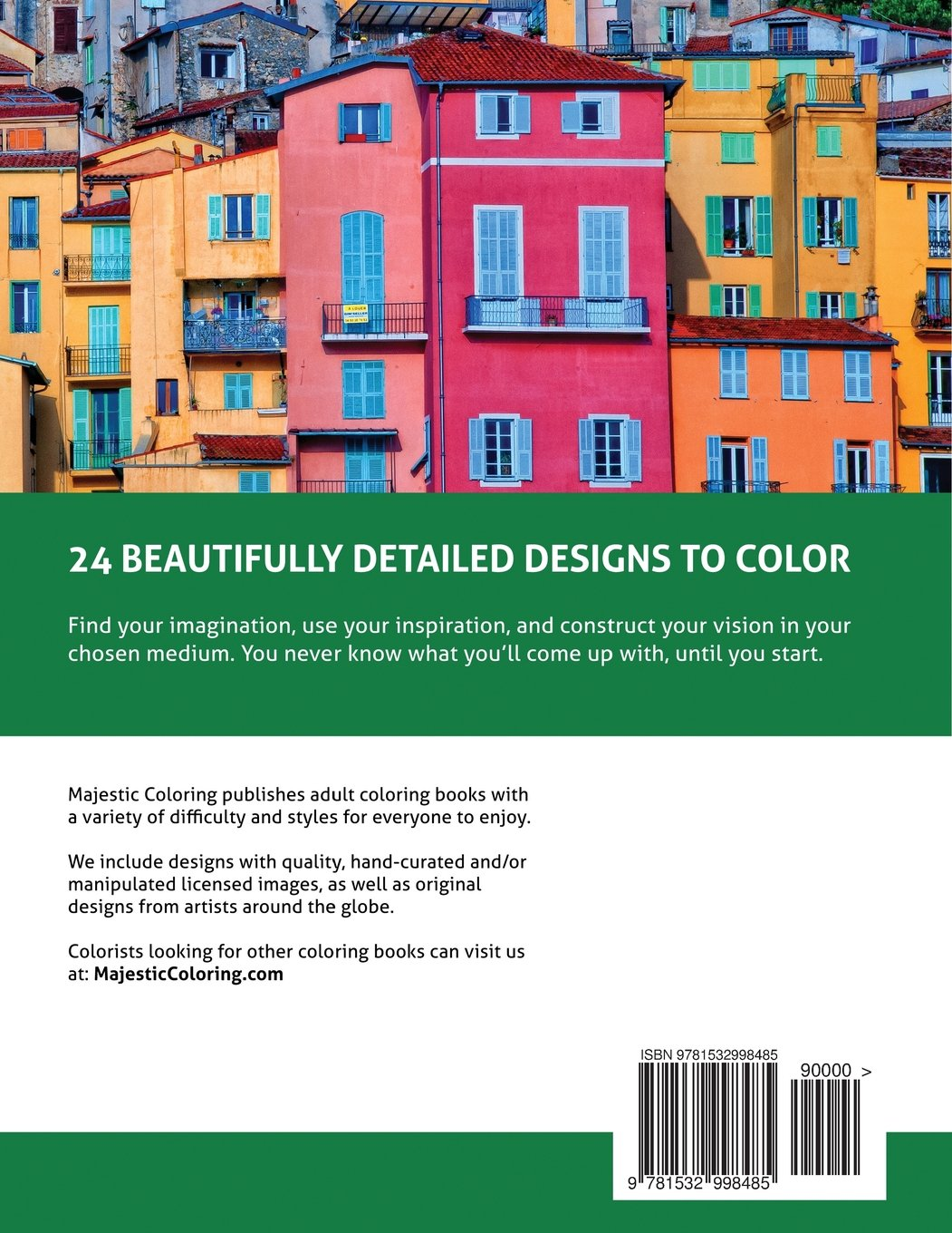 Coloring book real estate - Amazon Com Colorful Things Grayscale Photo Coloring Book For Adults 9781532998485 Majestic Coloring Books