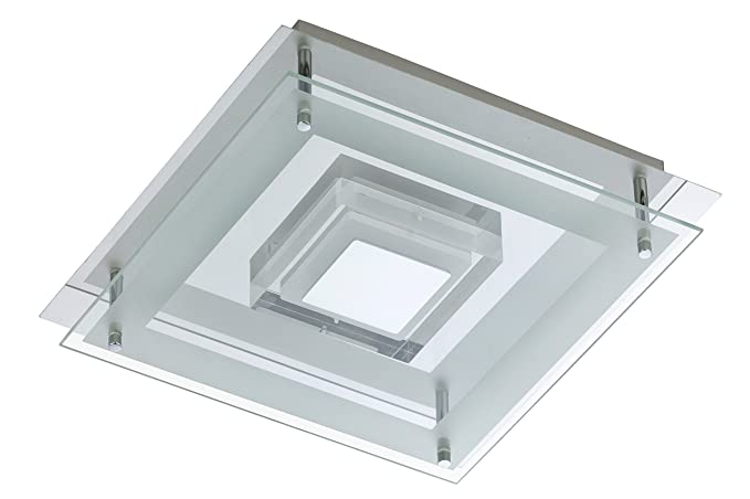 Lampada Led Da Soffitto : Briloner leuchten lampada led da soffitto quadrata w