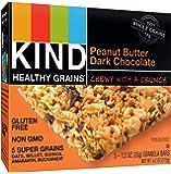 KIND Healthy Grains Bars, Peanut Butter Dark Chocolate, Non GMO, Gluten Free, 1.2 oz, 5 Count