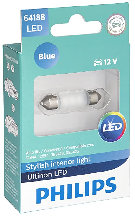 Amazon.com: Philips 6418BLED Ultinon LED lámpara LED: Automotive