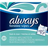 Always Lightly Scented Wipes-To-Go, 20 Count