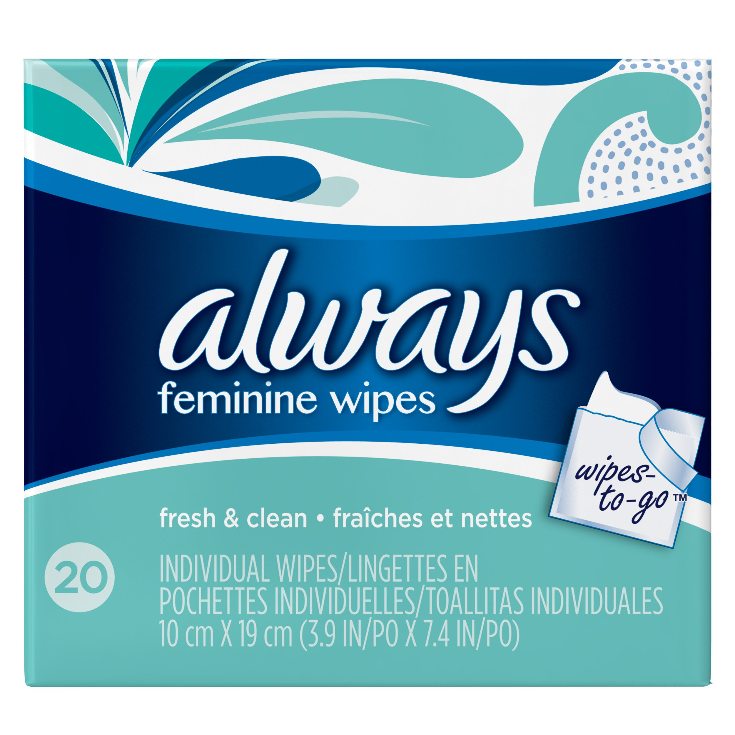 Always Wipes-to-Go, 20 Count - Pack of 4 (80 Total