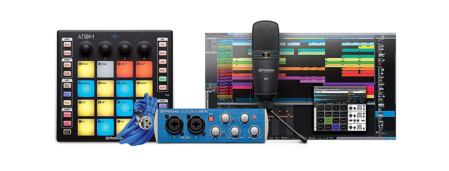 PreSonus ATOM Production and Performance Pad Controller with Studio One Artist Software PreSonus Audio Electronics