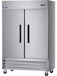 """Arctic Air AR49 54"""" Two Section Solid Door Reach-in Commercial Refrigerator - 49 cu. ft."""