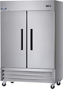 "Arctic Air AR49 54"" Two Section Solid Door Reach-in Commercial Refrigerator - 49 cu. ft."