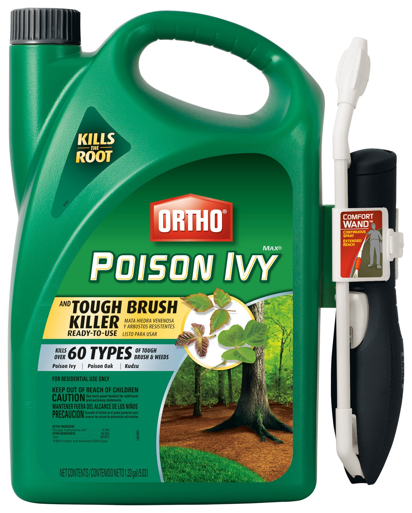 Ortho MAX Poison Ivy & Tough Brush Killer Ready-To-Use with Comfort Wand, 1.33-Gallon by Ortho