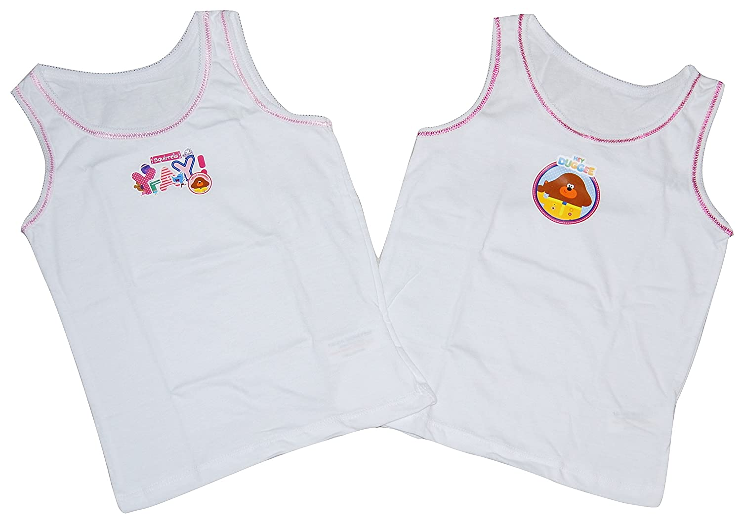 Hey Duggee Girls Vests 2 Pack 18 Months upto 5 Years