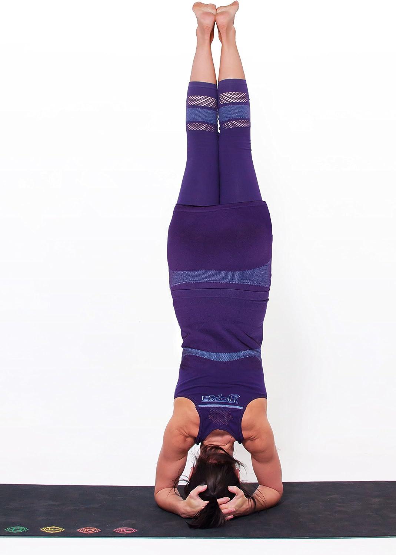 Yogamasti Lotus Seamless-Yoga Falda Ajustada Capri Pantalones ...