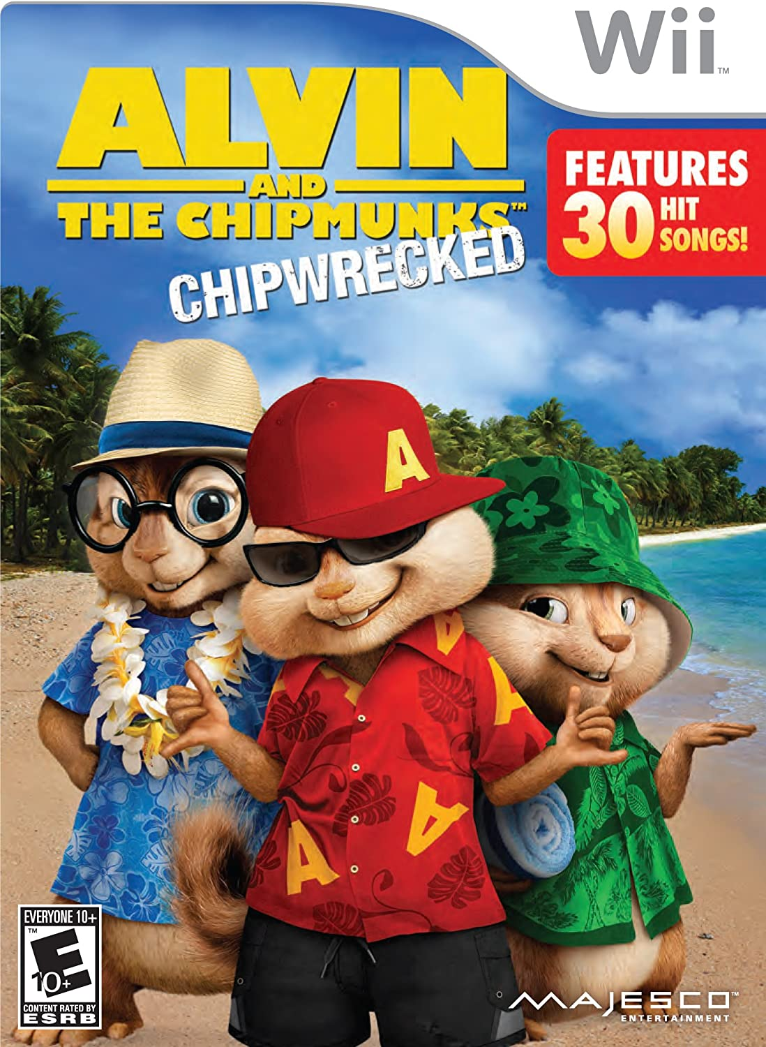 Jogo Alvin And The Chipmunks: Chipwrecked - Wii - Majesco Games