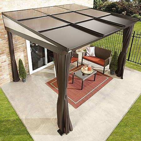 Sojag Budapest - Toldo para terraza y terraza (aluminio, 10 x 12 cm, 298 x 364 cm), color bronce: Amazon.es: Jardín