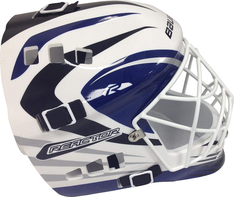 Amazon Com Bauer Senior Street Hockey Goalie Mask Blue White