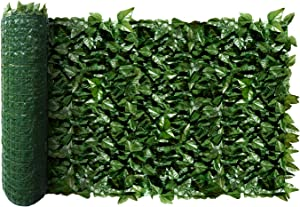 ECOOPTS Aritificial Ivy Fence Wall Décor Faux Ivy Expandable/Stretchable Privacy Fence Screen Plant Leaves and Vine Decoration for Home, Yard, Garden, 1 Pic