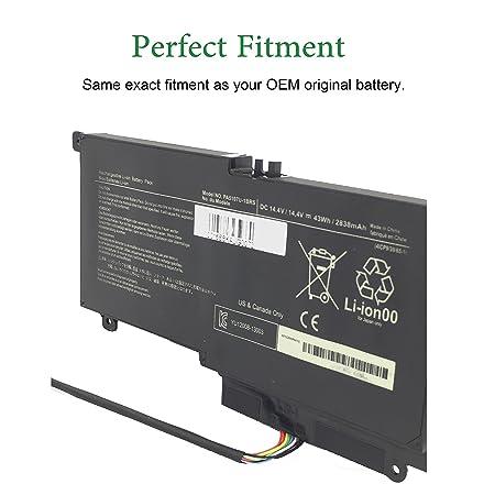 Amazon.com: PA5107U-1BRS Battery for Toshiba Satellite L55-A5284 L55-A5299 L55Dt-A5293 L55-A5284NR [14.4V 43Wh Emaks®]: Computers & Accessories