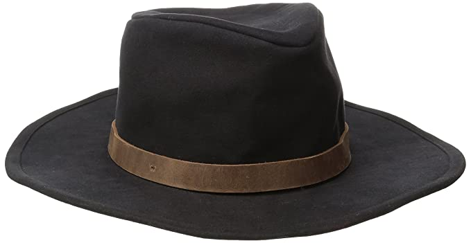cb1416b5e33a8d Amazon.com: Brixton Men's Thorpe Fedora, Black/Brown, Large: Clothing