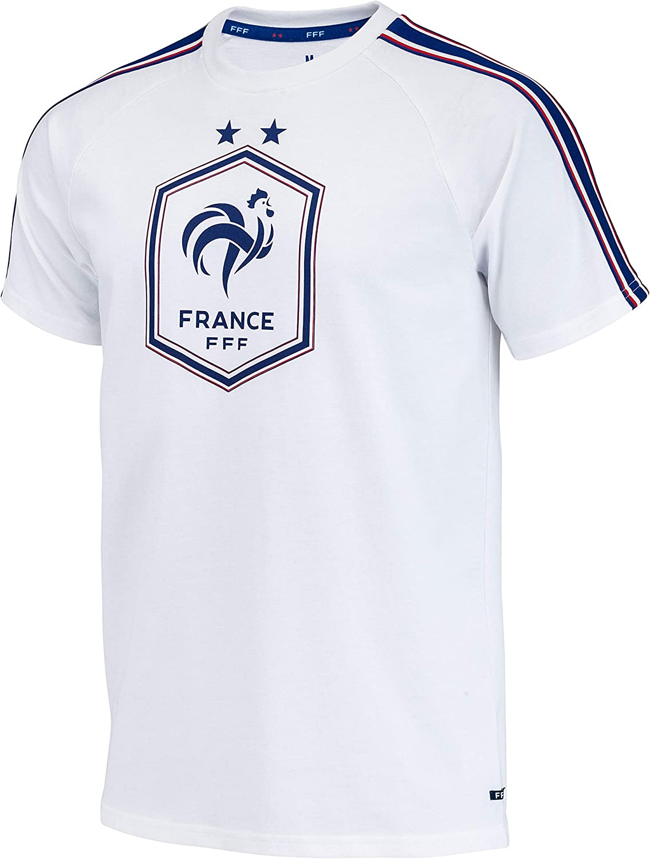 Equipe de FRANCE de football T-Shirt FFF Kylian MBAPPE Collection Officielle Taille Enfant gar/çon