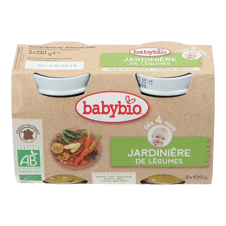 Babybio Petit Pot Jardiniè re de Lé gumes 4+ Mois 260 g - Lot de 3 VG50043