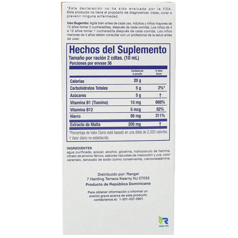 Amazon.com: Vino Cerebrina Mineral and Vitamin Siplement Syrup - Suplemento Mineral y Vitaminico Rangel 12 OZ: Health & Personal Care