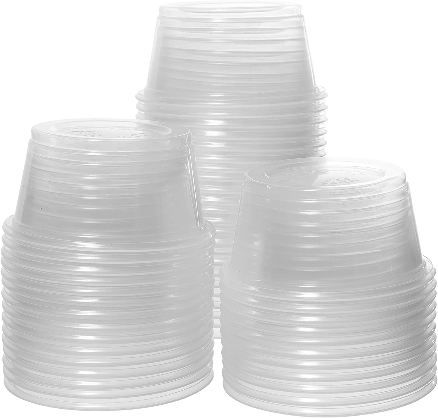 Crystalware, Disposable 2oz. Plastic Portion Cups (No Lids) Condiment Cup, Jello Shot, Soufflé Portion, Sampling Cup, 100 Cups Clear (100 Cups)