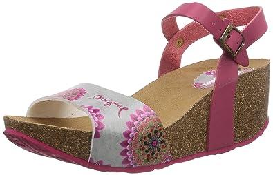 Rouge Desigual LailaSandales Pour Rot300141 Shoes Femme OkPiTXZu