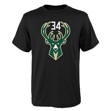 Adidas Giannis Antetokounmpo Milwaukee Bucks # 34 de la NBA Juventud Reproductor Nombre y número Camiseta, Suave, Negro: Amazon.es: Deportes y aire libre