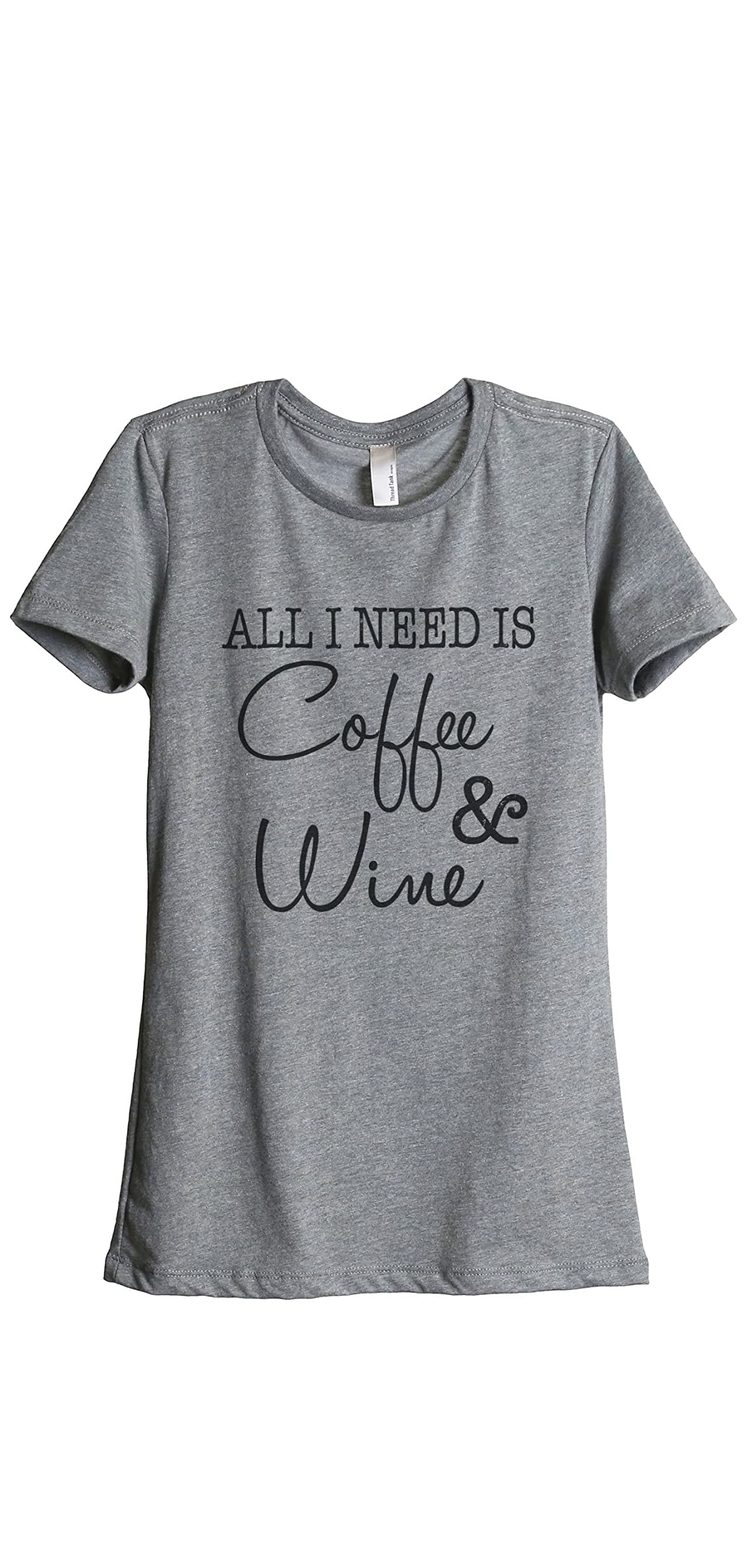 Coffee And Wine Women's Fashion Relaxed T-shirt Tee